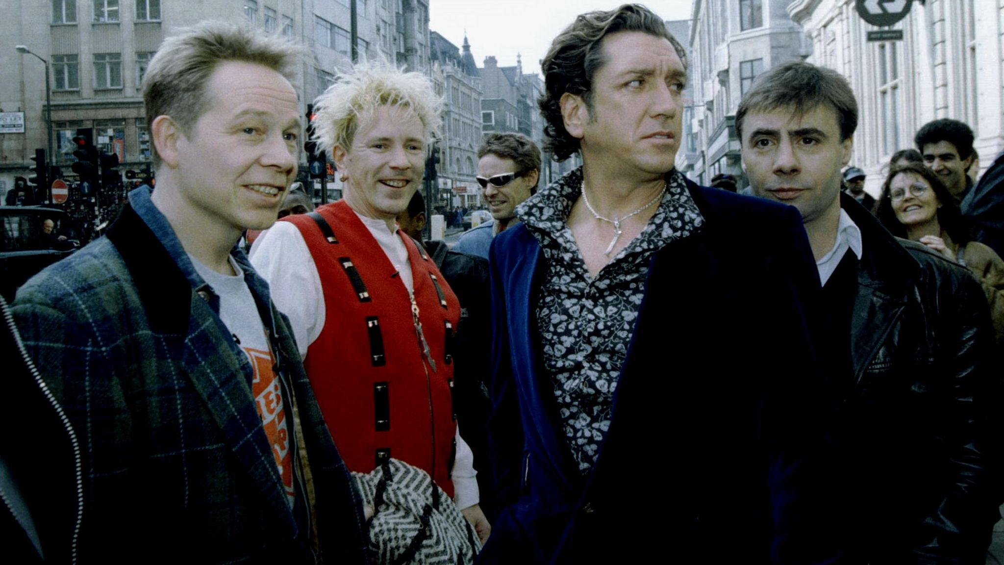The Sex Pistols (L-R) original line up: Paul Cook, Johnny Rotten, Steve Jones, and Glen Matlock