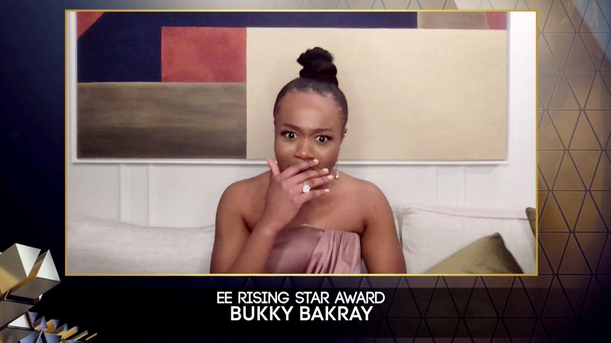 Bukky Bakray won the Rising Star award. Pic: BAFTA/Reuters