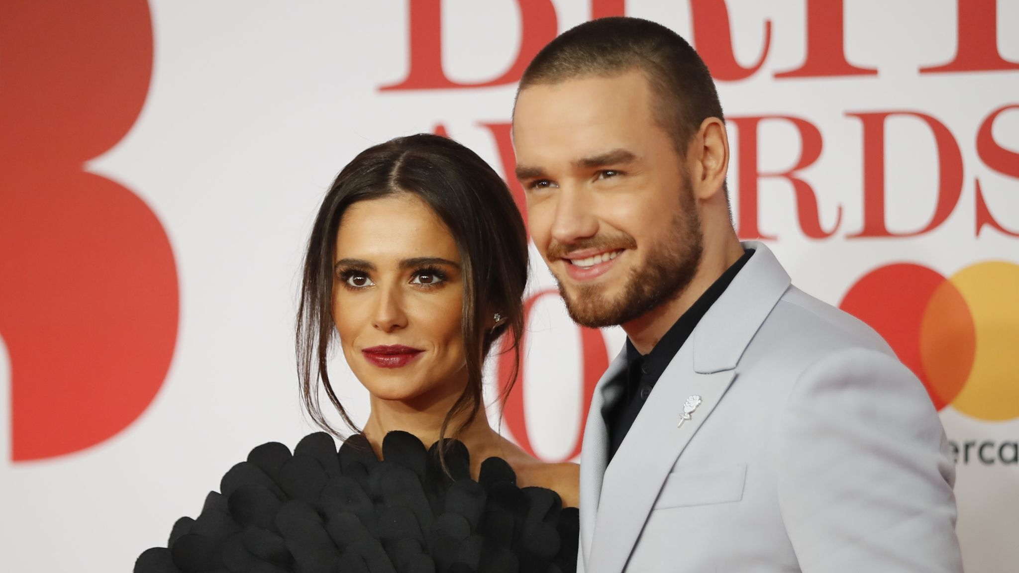 Cheryl Cole and Liam Payne at the Brit Awards in 2018