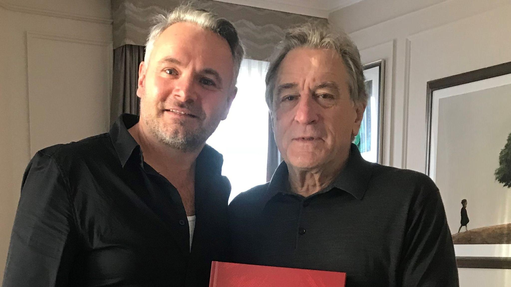 Jay Glennie and Robert De Niro