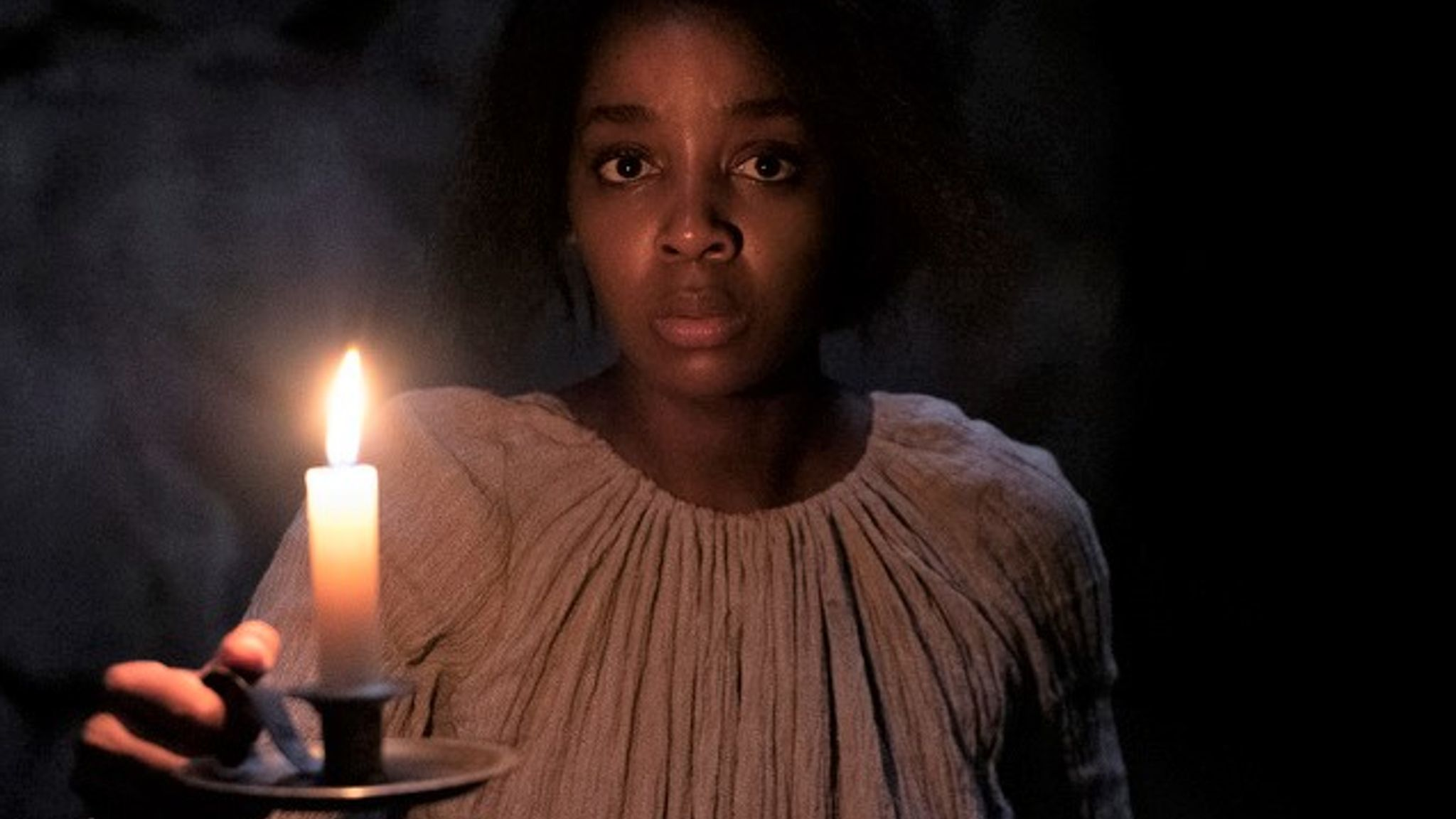 Thuso Mbedu as Cora Randall in Barry Jenkins' The Underground Railroad. Pic: Amazon Studios