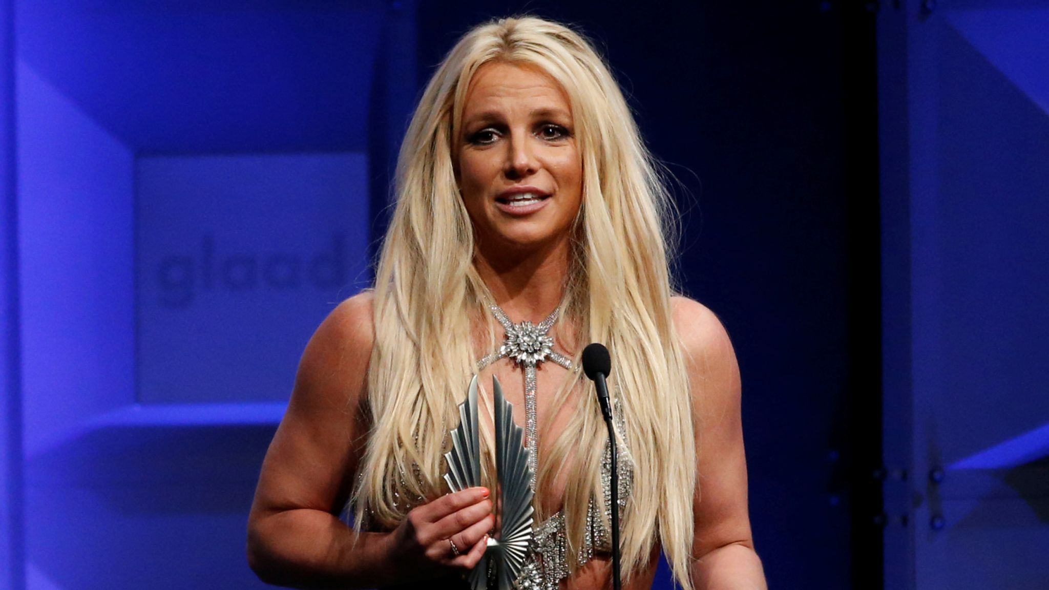 Britney Spears accepts the Vanguard Award at the 29th Annual GLAAD Media Awards in Beverly Hills in 2018