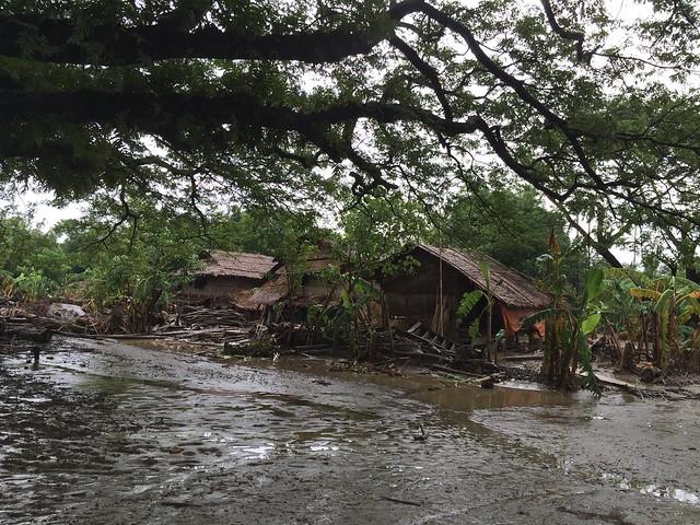 A flooded village