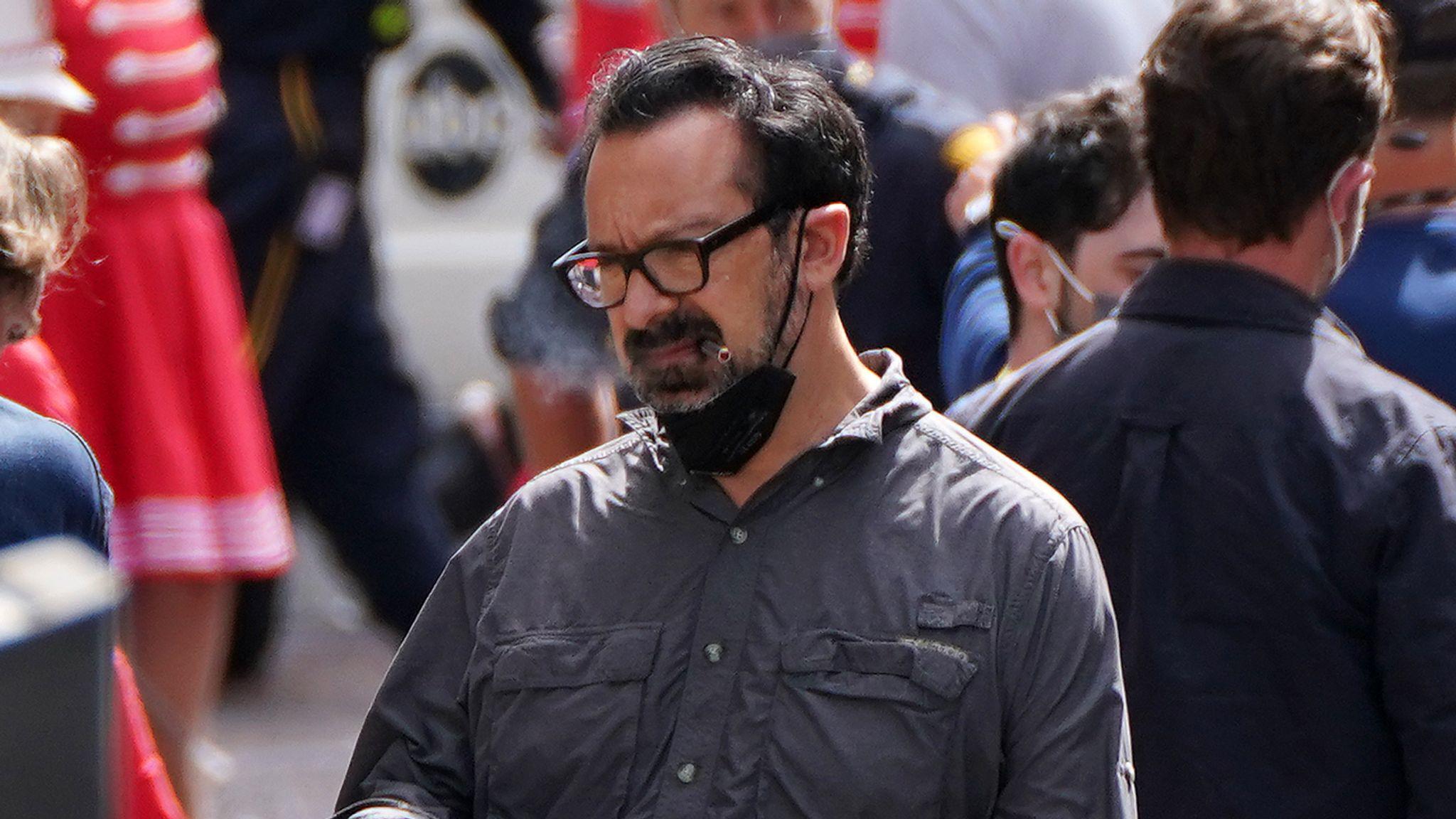 Director James Mangold was seen on set