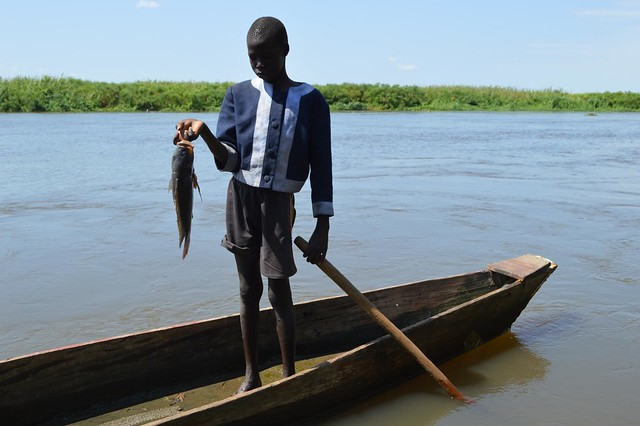 Young fisher in Terekeka