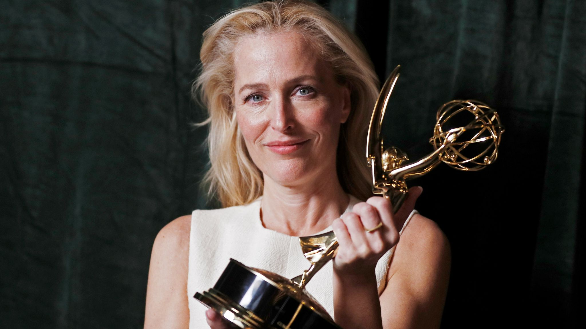 Gillian Anderson was named best supporting actress in a drama for her portrayal of Margaret Thatcher in The Crown at the 2021 Emmy Awards
