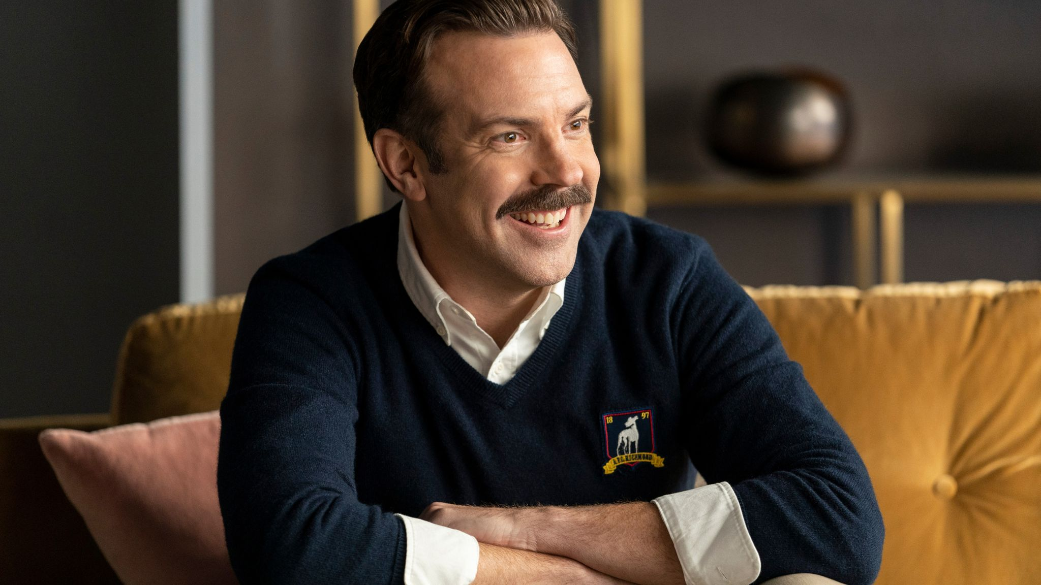 Jason Sudeikis in Ted Lasso. Pic: Apple TV+