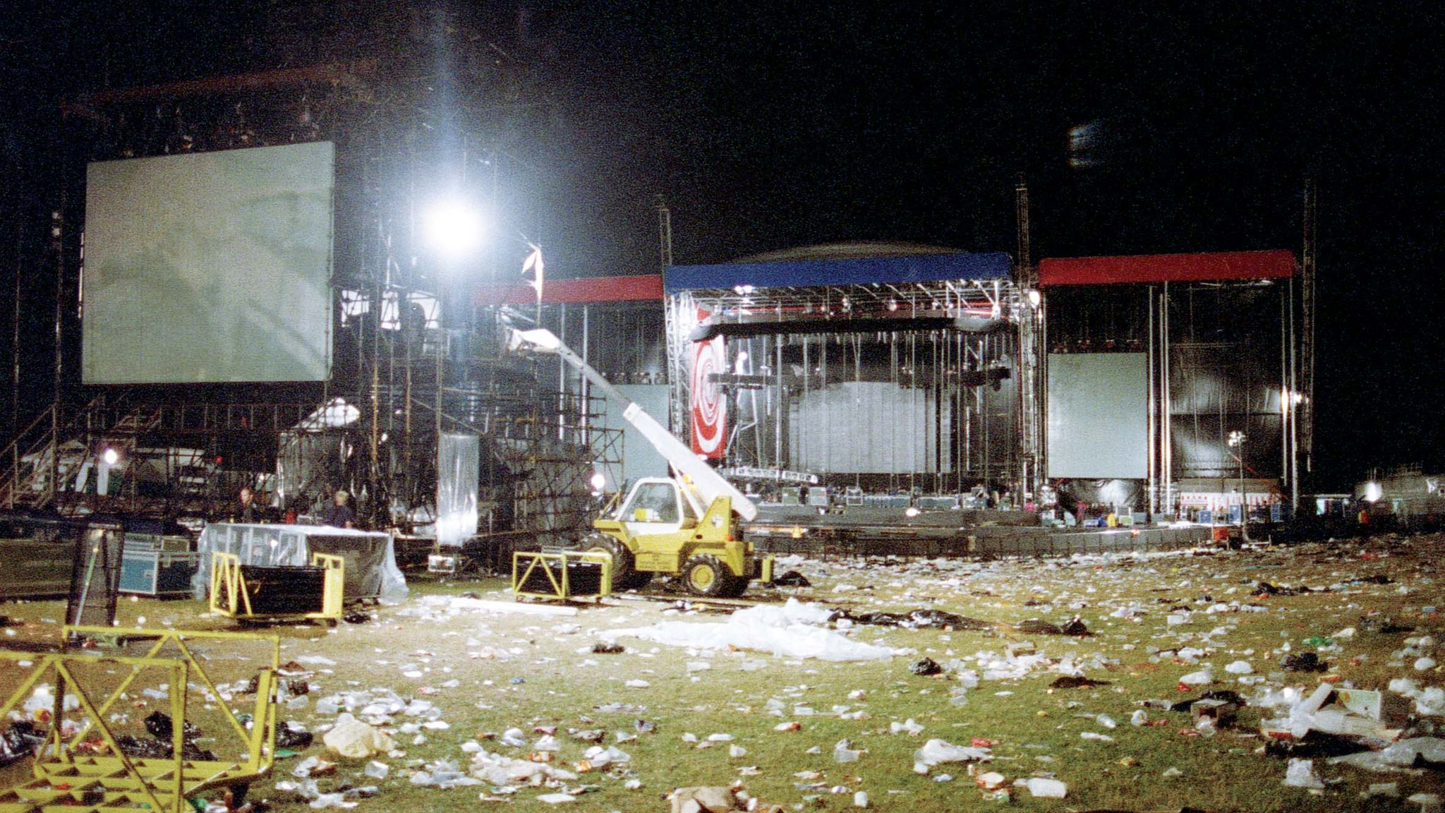 The clean-up after the Oasis Knebworth gigs. Pic: Michael Spencer Jones